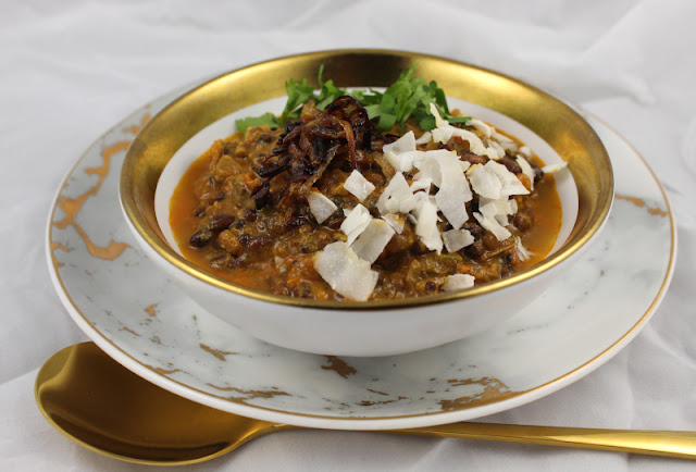 Urad Dal with Coconut, Shallots and Cilantro