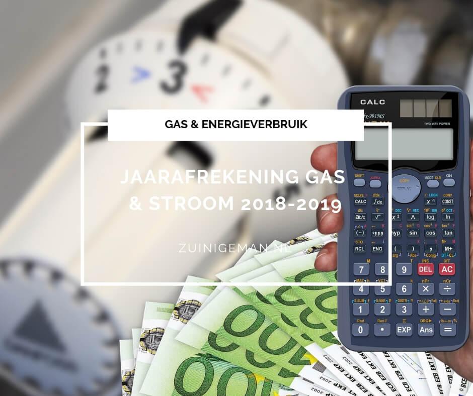 Jaarafrekening Gas en stroom