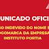 COMUNICADO OFICIAL - INSTITUTO PORTIA - USO INDEVIDO DO NOME E LOGOMARCA DA EMPRESA