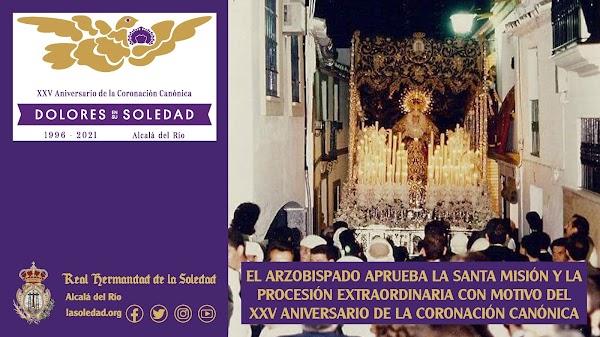 El Arzobispado aprueba la Santa Misión y la procesión extraordinaria con motivo del XXV Aniversario de la Coronación Canónica en Alcalá del Rio