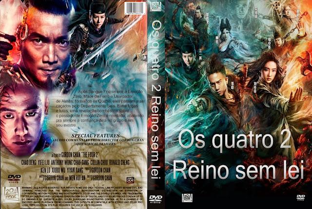 Capa DVD Os Quatro 2 Reino Sem Lei
