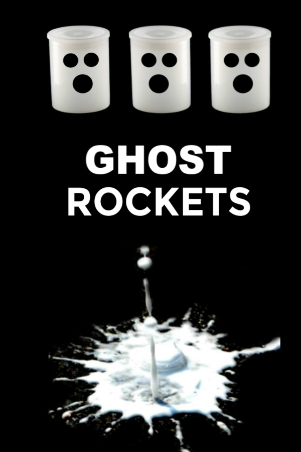 How to make flying ghosts rockets for kids Halloween science activities. #ghostrockets #ghostrocketsforkids #ghostrocketexperiment #flyingghostsdiy #flyingghostexperiment #halloweenexperimentforkids #rockets #rocketsforkids #growingajeweledrose #activitiesforkids