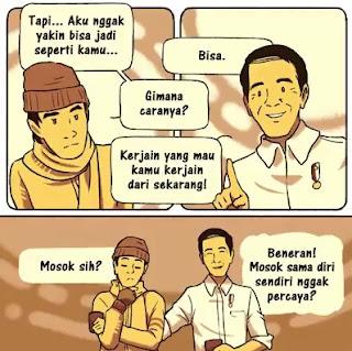 Cerita Komik Pendek Bapak Jokowi ke Masa Lalu