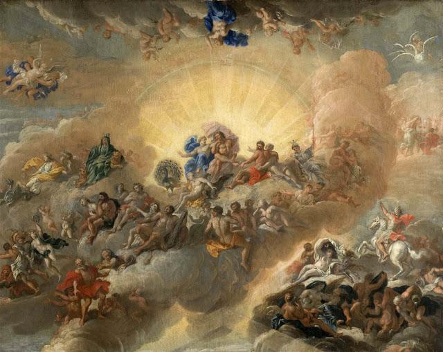"""Obra """"Painting gods mount Olympus"""" de Antonio Verrio"""