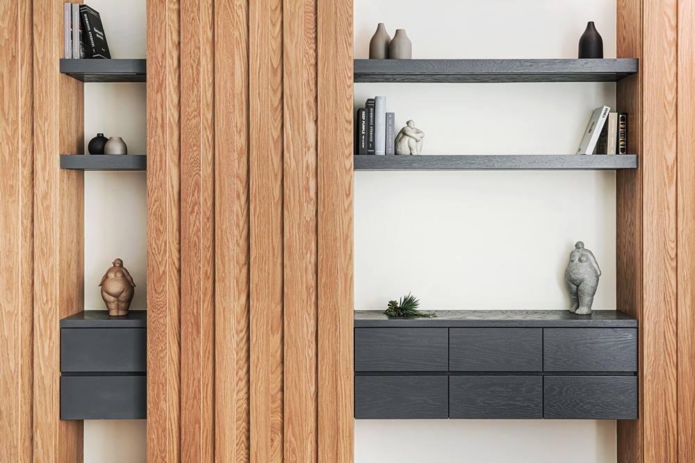 天然木皮板打造自然風居家