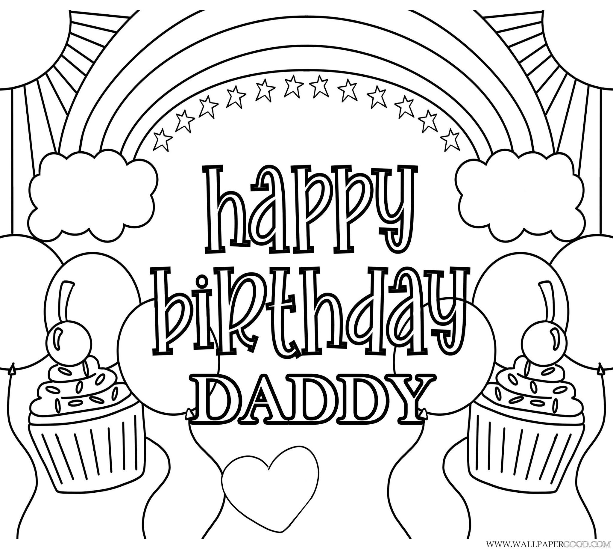 happy birthday dad coloring pages