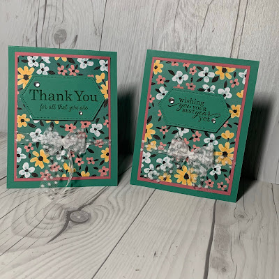 A floral  handmade greeting card using Stampin' Up! Flower & Field Designer Series Paper