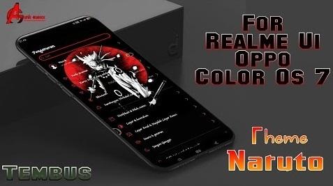 Download Tema Naruto For Realme Ui dan Oppo Color Os 7 Tembus Keren Abiss