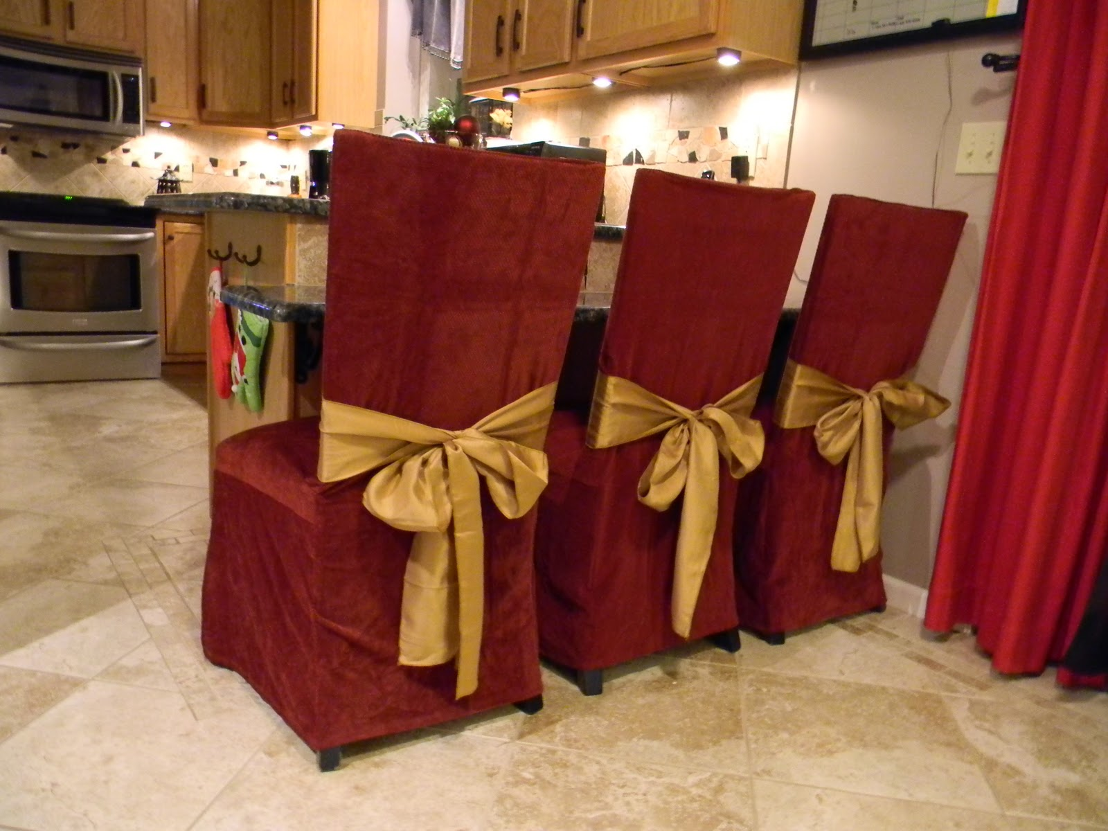 Dining Chair Covers For Christmas Ghost Bar Stools Sure Fit Slipcovers Style Holiday Home Makeover