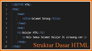 Struktur Dasar Pada HTML