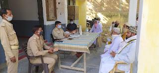 जालौन पुलिस द्वारा मुस्लिम धर्मगुरुओं के साथ पीस कमेटी की मीटिंग  Peace Committee meeting with Muslim religious leaders by Jalaun Police