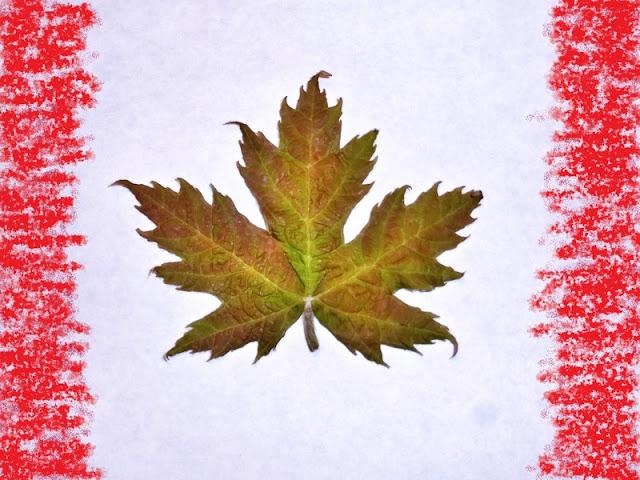 Collage bandera Canadá