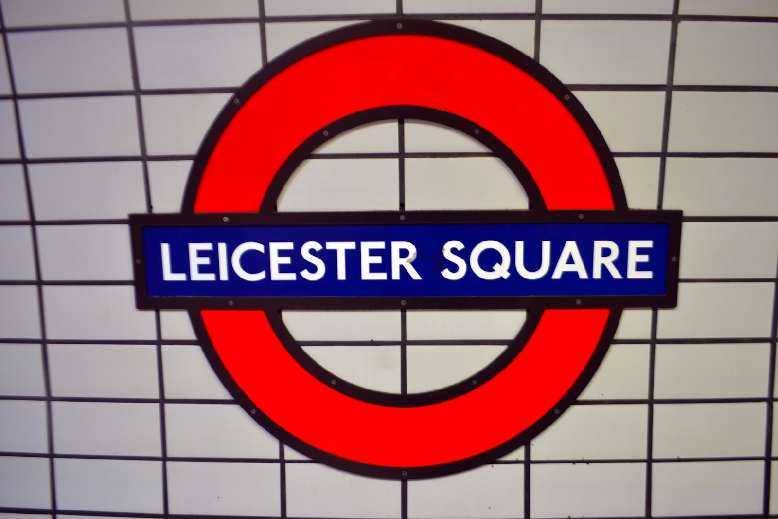 a Leicester Square London Underground Sign