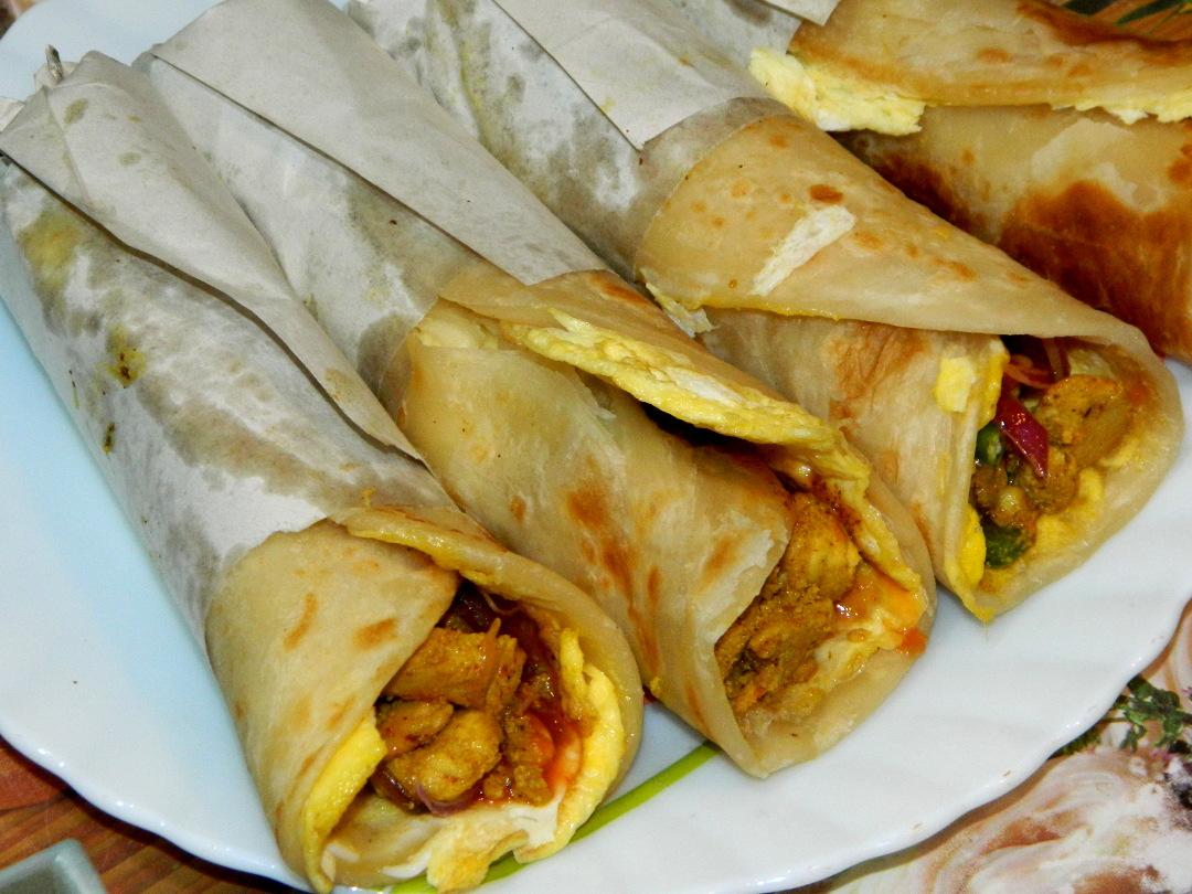 Egg Chicken Roll Recipe Street Food Style Salma Kolkata Recipe