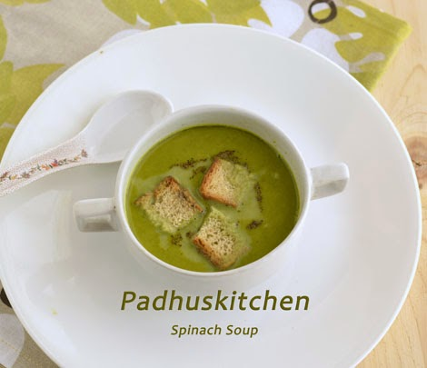 Palak Soup-Spinach Soup