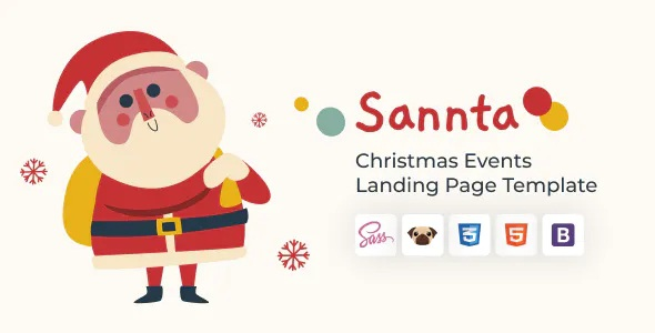 Best Event Christmas Landing Page Template