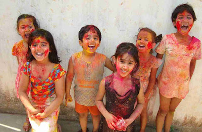 Holi Kids Photo