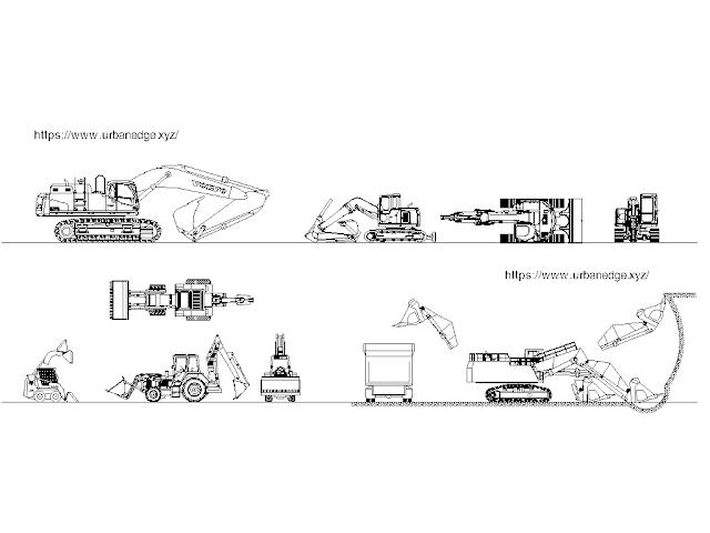 Construction machines cad models and blocks