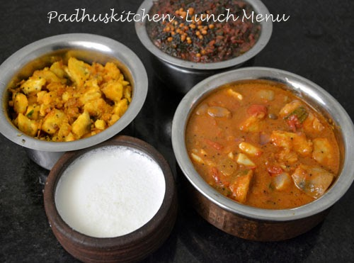 South Indian Lunch Menu-Lunch Ideas