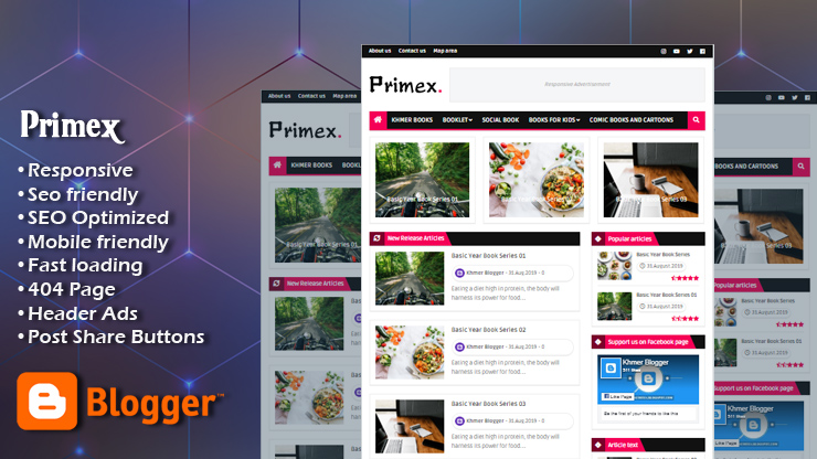 Primex Premium Responsive Blogger Template