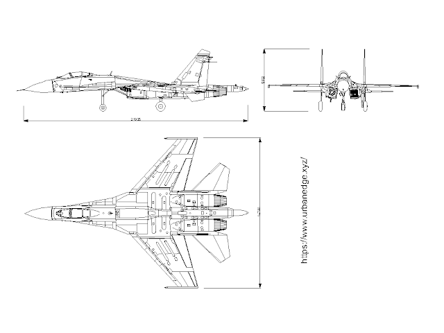Fighter Jet sukhoi SU35 free cad blocks download