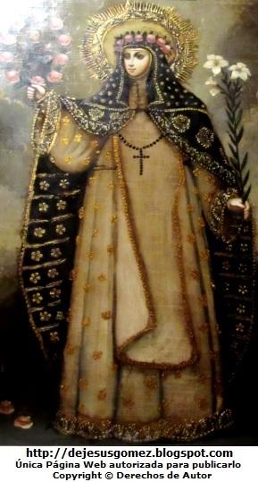 Pintura de Santa Rosa de Lima tomada por Jesus Gómez