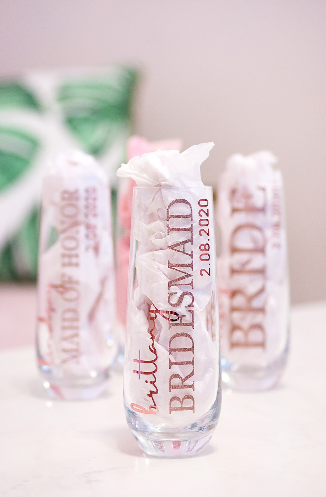 Personalized Champagne Flutes For Bridesmaids - Chasing Cinderella