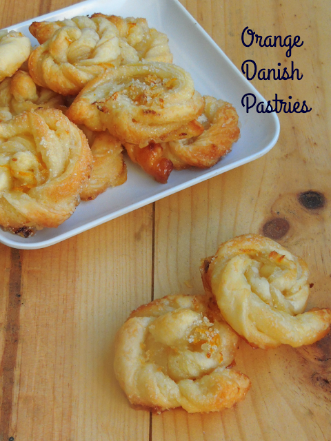 Orange sugar Pastries, Orange danish pastries