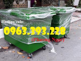 Thùng rác nhựa 660L 4 bánh xe ,xe gom rác rác nhựa HDPE giá rẻ. 01cd18d07312954ccc03