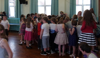 school summer party assembly hall