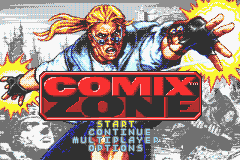 Comix Zone Game Boy Advance title screen