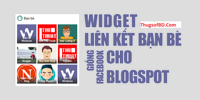 Create a 3-column Friends Link widget like Facebook for Blogspot