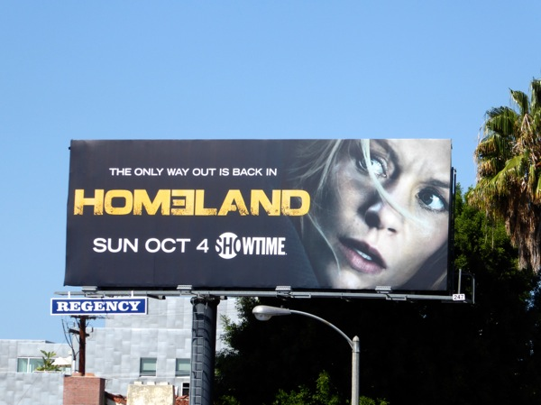 Homeland The only way out is back in Season 5 billboard