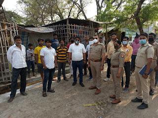 जौनपुर  पुलिस ने बंद कराई मीट, मुर्गा की दुकान