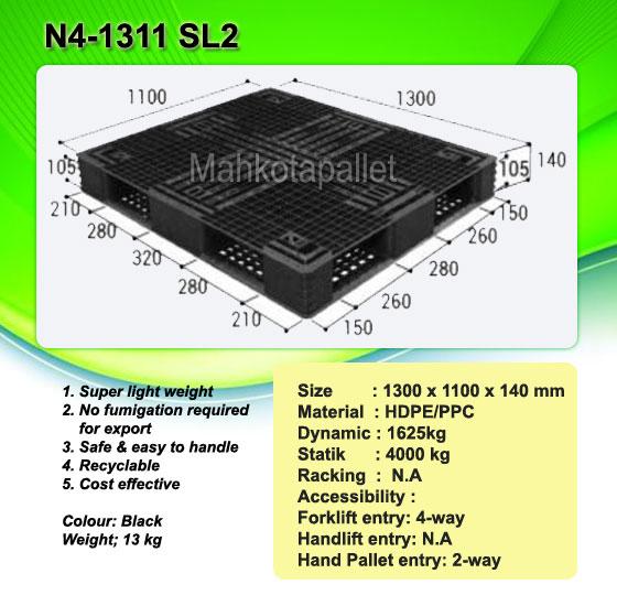 Jual Pallet Plastik N4-1311 SL2