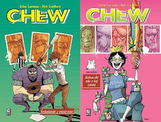"""John Layman (scen.), Rob Guillory (rys.), """"Chew 5: Śniadanie z mistrzów"""" i """"Chew 6: Babeczki nie z tej ziemi"""""""