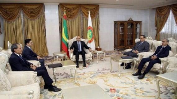 استقبال ناصر بوريطة من قبل الرئيس الموريتاني