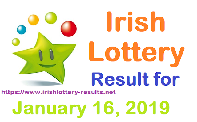 Irish Lottery Results for Wednesday, 16 January 2019