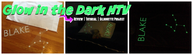 Silhouette tutorial, HTV, heat transfer vinyl, Silhouette Cameo, glow in the dark