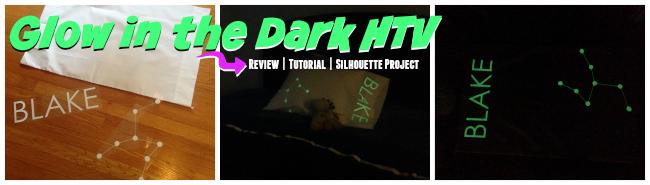 Silhouette tutorial, HTV, heat transfer vinyl, Silhouette Cameo, glow in the dark