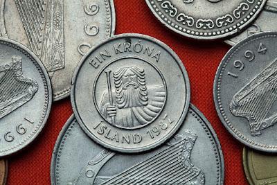 Moneda de Islandia del valor de una corona