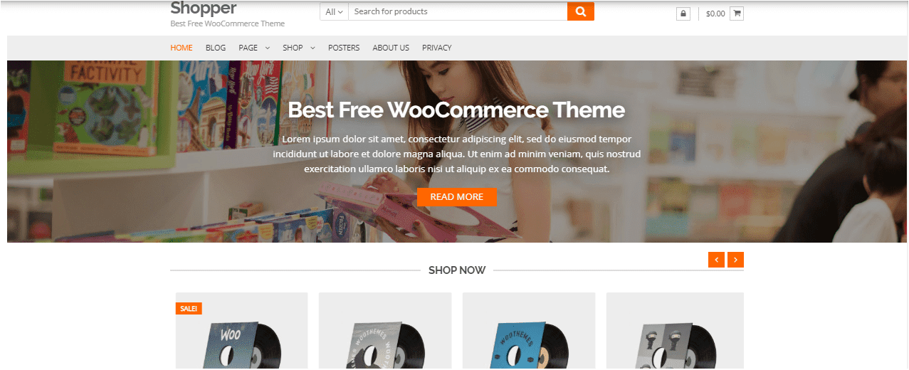 Shopper Wordpress themes free download