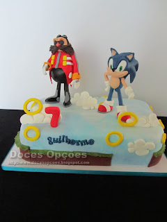 O Sonic e o Doctor Eggman foram ao 7º aniversário do Guilherme