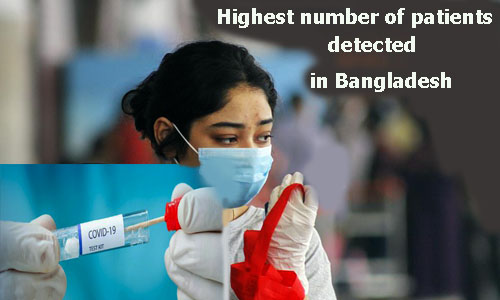 Bangladesh has the highest number of patients in one day