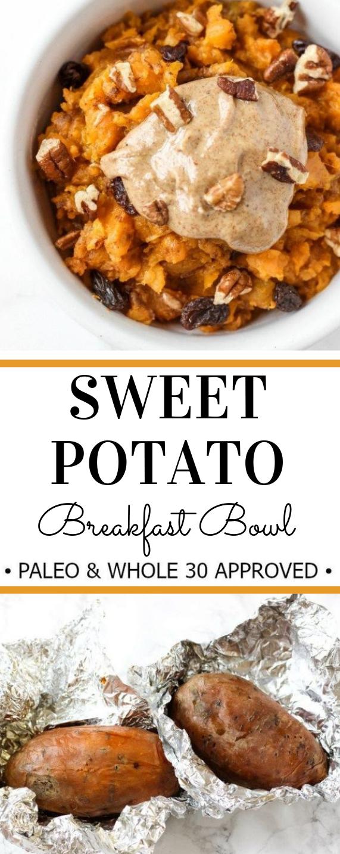 SWEET POTATO BREAKFAST BOWL #bowl #breakfast #potato #diet #easy
