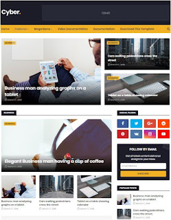 Cyber Adsense Responsive Blogger Templates Without Footer Credit