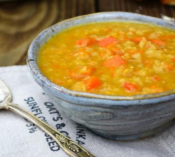 Close up of Scottish Fridge Lentil Soup