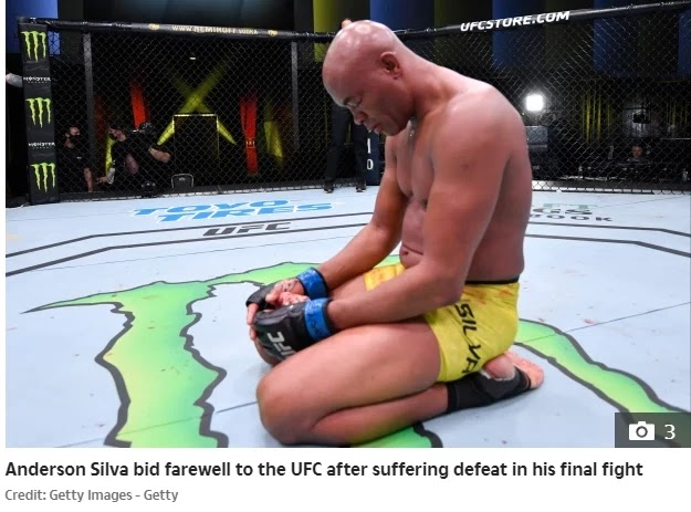 Silva Lining Anderson Silva, 45, lost the final UFC battle when Urea Hall knocked the middleweight icon in an emotional farewell.
