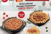 Promo Pizza Hut Beli Double Box Rp 155.000 / Nett + Gratis Pasta Periode 13 - 23 April 2020