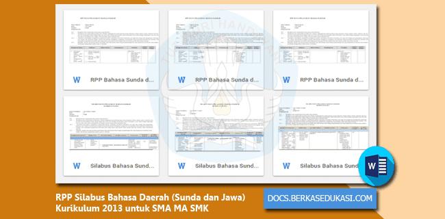 RPP Silabus Bahasa Daerah (Sunda dan Jawa) Kurikulum 2013 untuk SMA MA SMK
